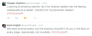 Diverse readers tweet