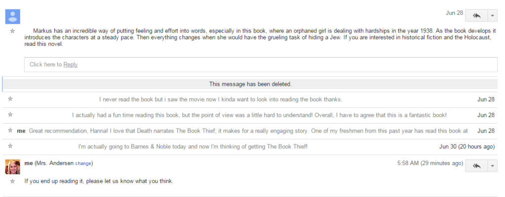 The Book Thief Convo